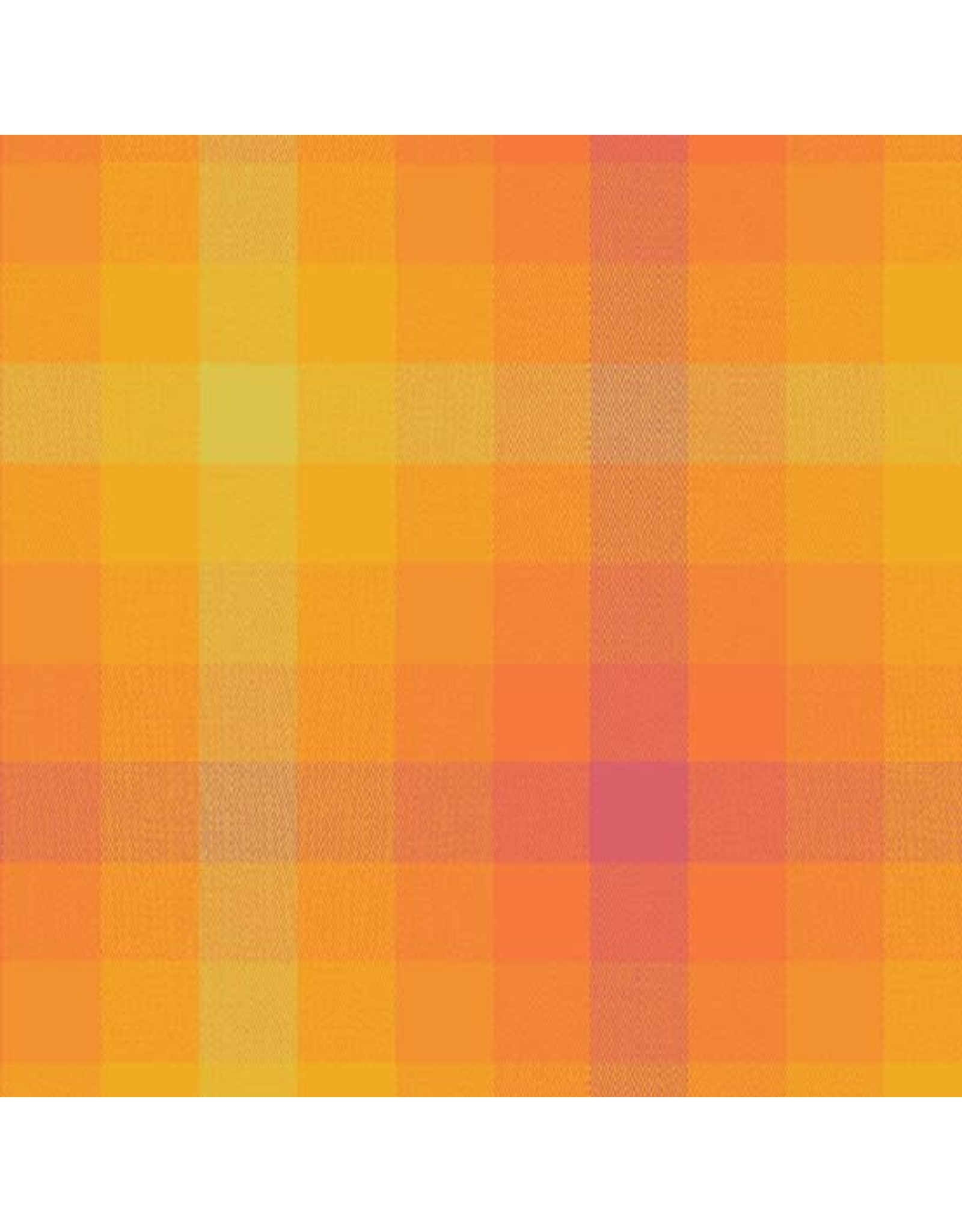 Alison Glass Kaleidoscope Stripes and Plaids, Plaid in Marmalade, Fabric Half-Yards