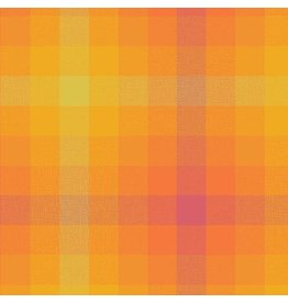 Alison Glass Kaleidoscope Stripes and Plaids, Plaid in Marmalade, Fabric Half-Yards WV-9541