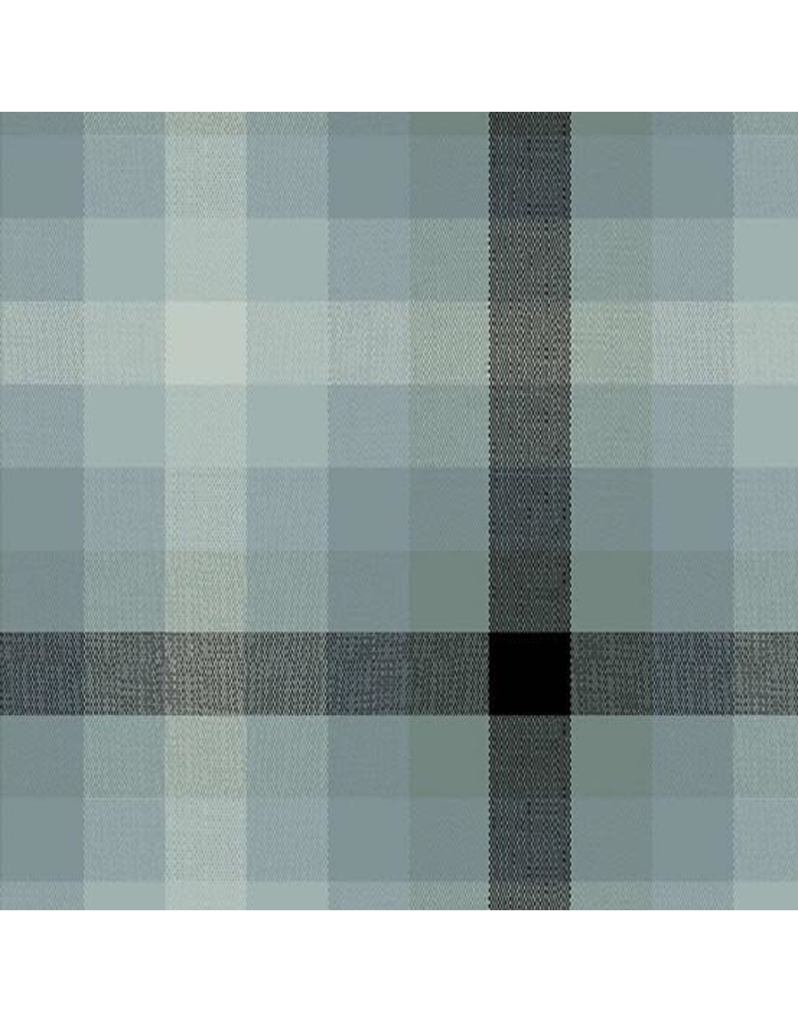 Alison Glass Kaleidoscope Stripes and Plaids, Plaid in Charcoal, Fabric Half-Yards