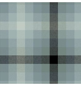 Alison Glass Kaleidoscope Stripes and Plaids, Plaid in Charcoal, Fabric Half-Yards WV-9541
