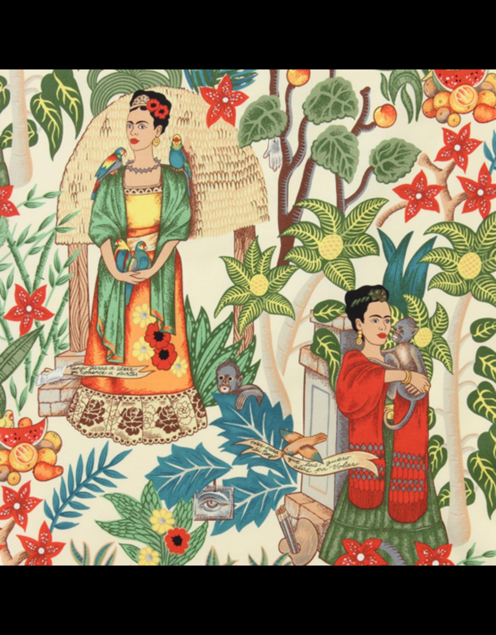 Alexander Henry Fabrics Folklorico, Fridas Garden in Tea, Fabric Half-Yards 6752AAR