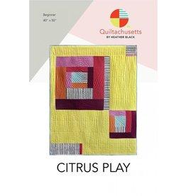 Quiltachusetts Citrus Play Quilt Pattern