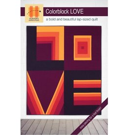 Hunter's Design Studio Colorblock LOVE Quilt Pattern