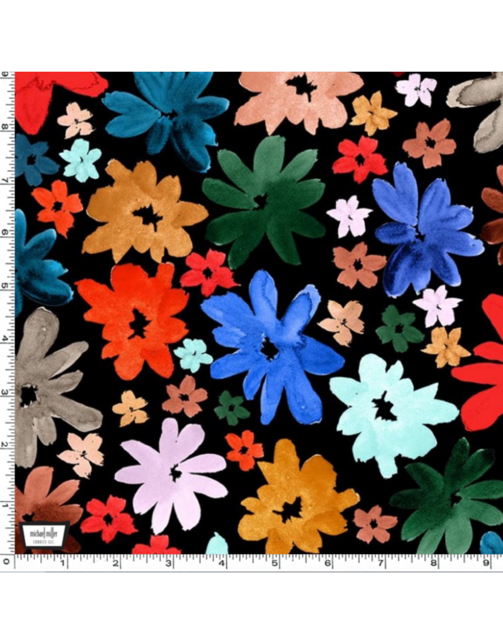 PD's The Paper Curator Collection Ink Unleashed, Wild Daisy in Black, Dinner Napkin