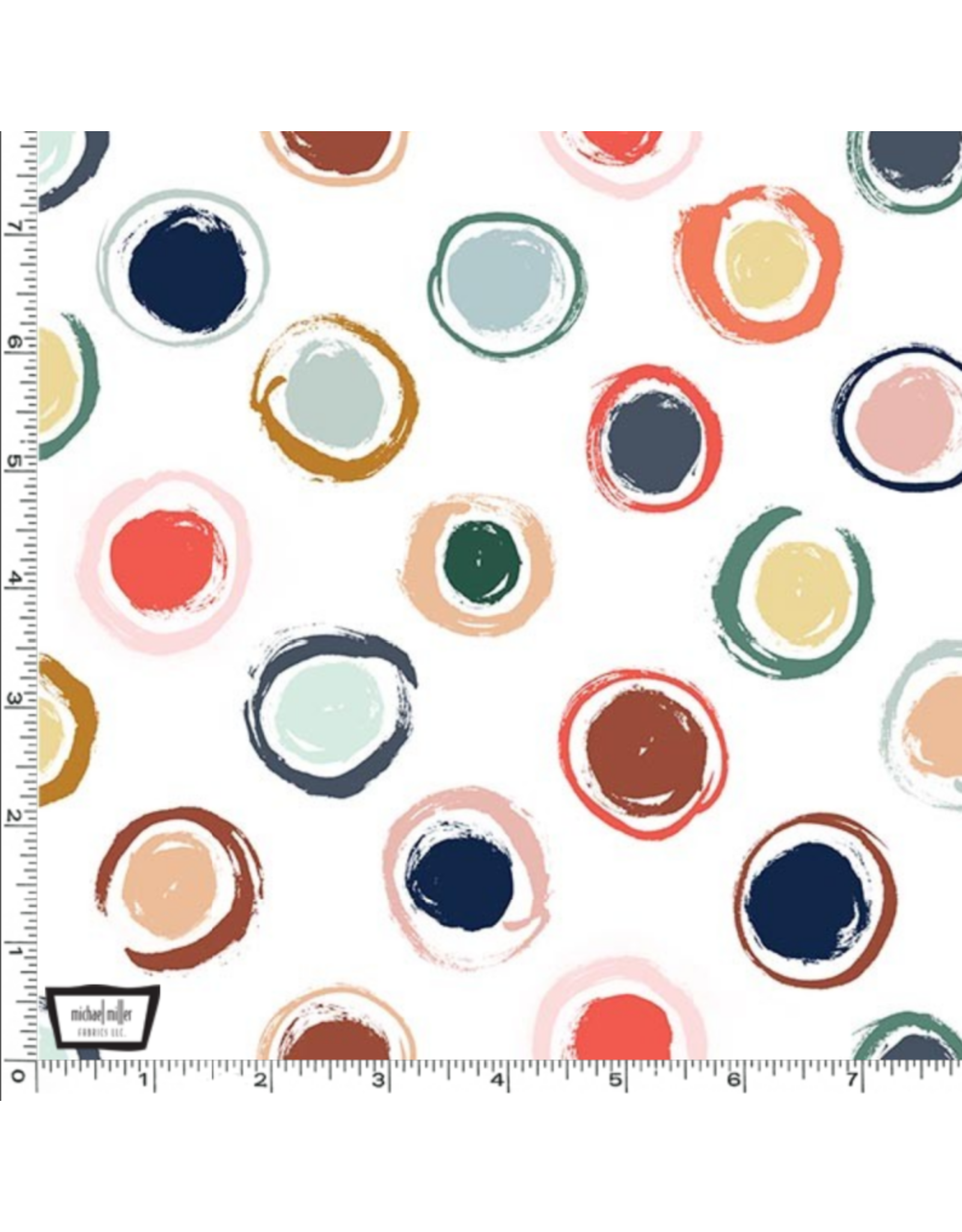The Paper Curator Ink Unleashed, Whimsical Dots in Multi, Fabric Half-Yards DC9320