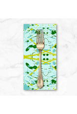 PD's Giucy Giuce Collection Prism, Splatter in Light Teal, Dinner Napkin