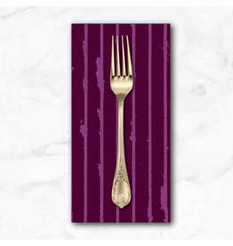 PD's Giucy Giuce Collection Prism, Striped in Mulled Wine, Dinner Napkin