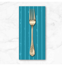 PD's Giucy Giuce Collection Prism, Striped in Teal, Dinner Napkin