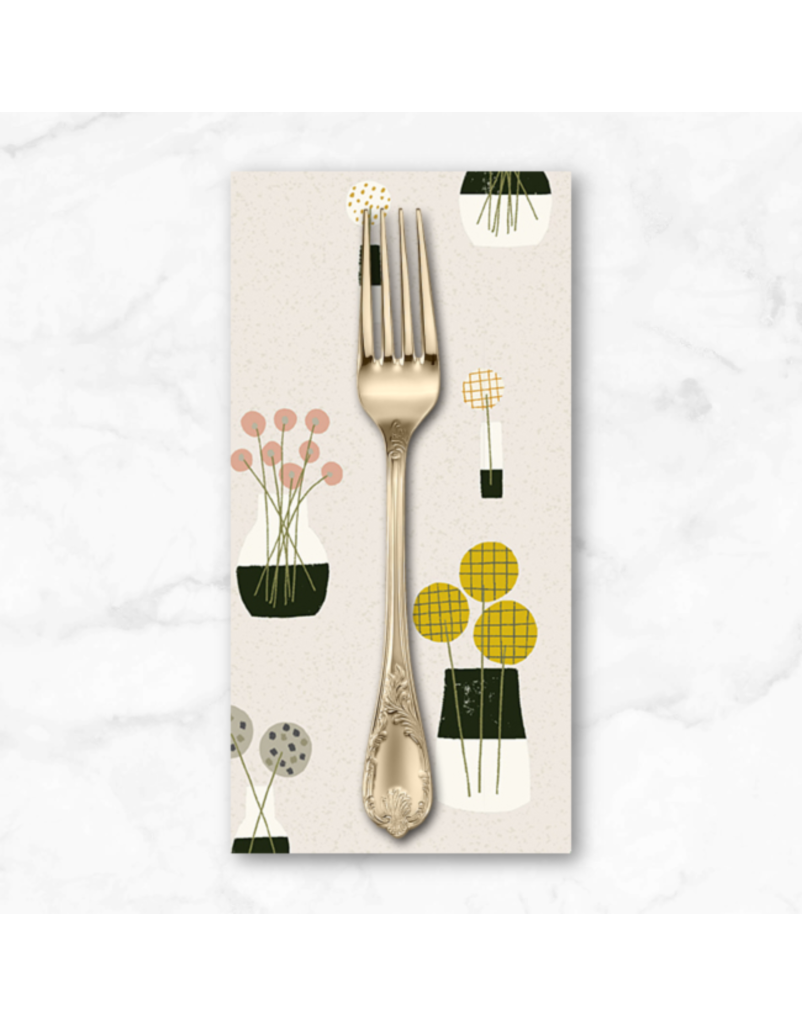 PD's Sarah Golden Collection Perennial, Bouquet in Stone, Dinner Napkin