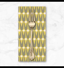 PD's Sarah Golden Collection Perennial, Mid Mod Floral in Bitter Lemon, Dinner Napkin