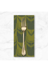 PD's Sarah Golden Collection Perennial, Patchwork Tulips in Olive, Dinner Napkin