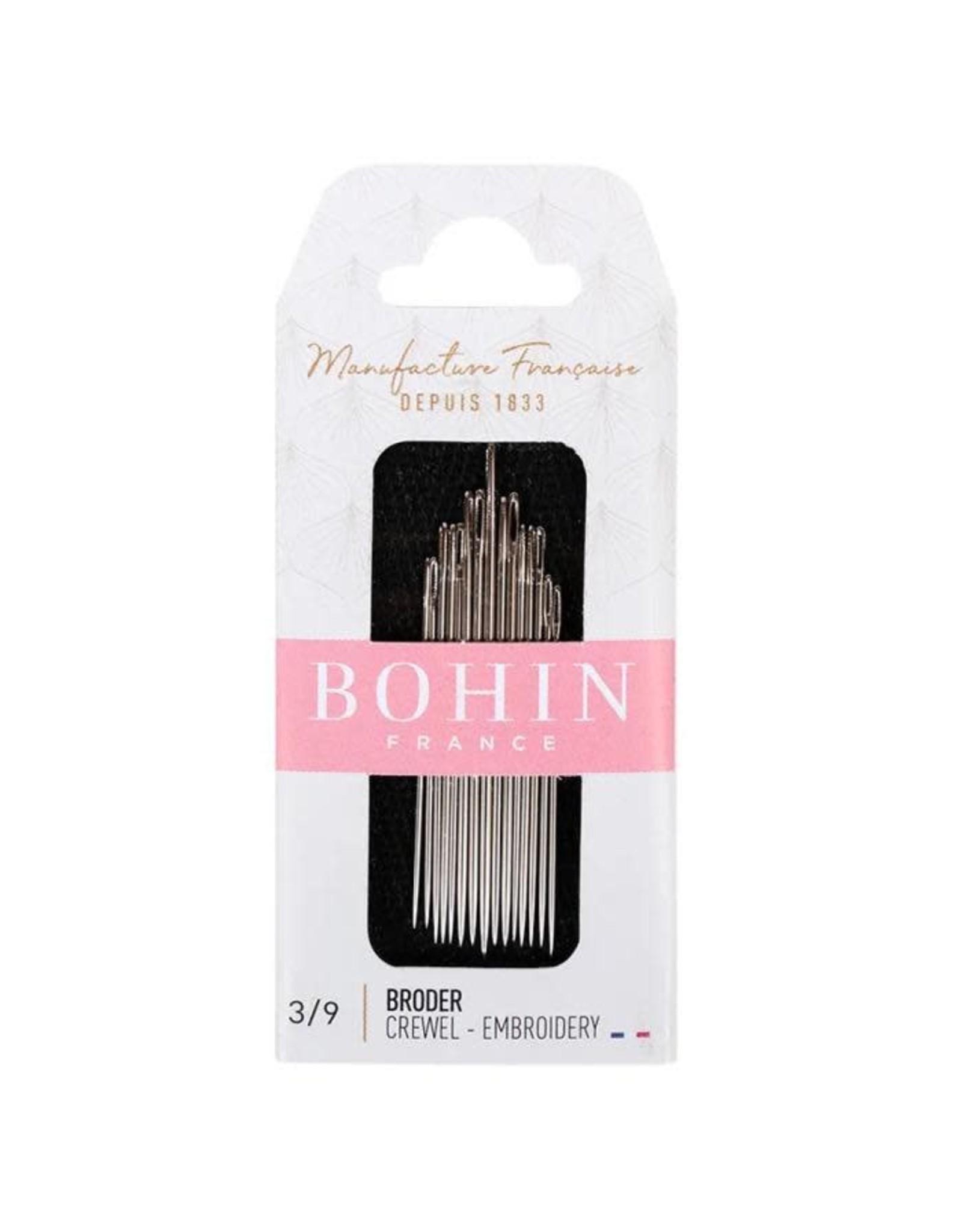 Bohin Crewel-Embroidery Needles, Assorted Sizes 3/9 - 15 ct., Bohin