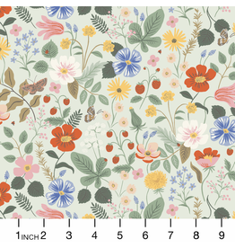 Rifle Paper Co. Strawberry Fields, Floral in Mint, Fabric Half-Yards RP400-MI2