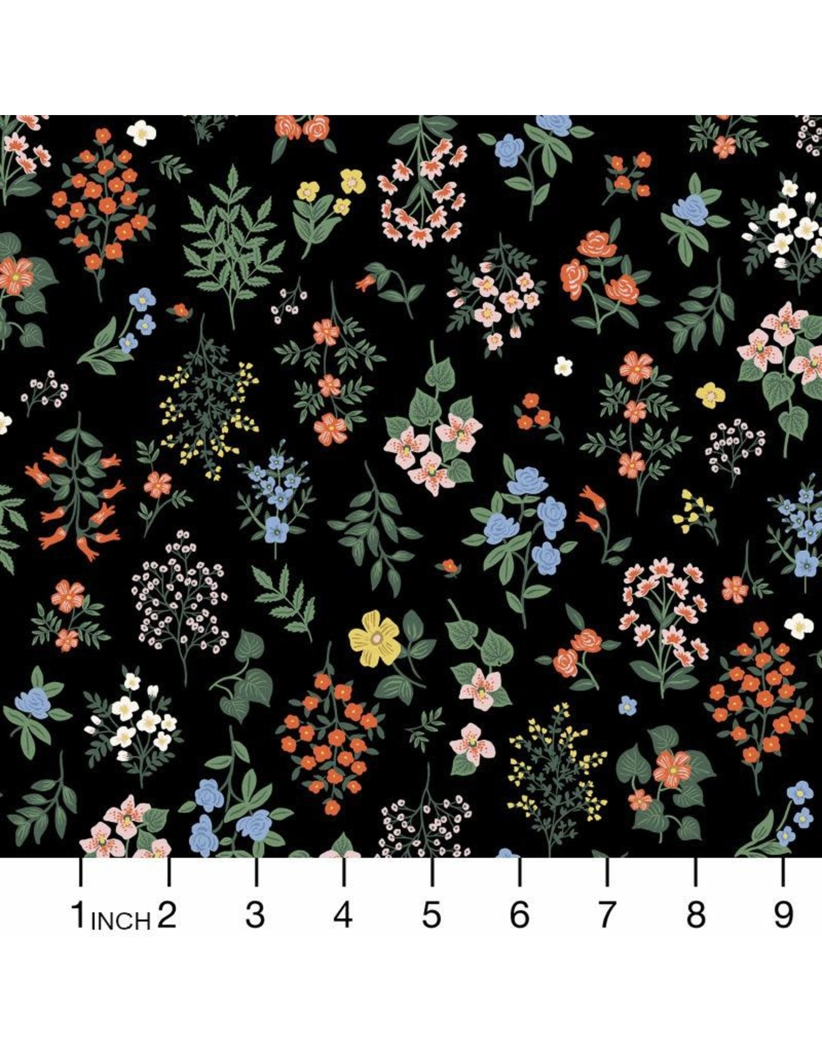 PD's Rifle Paper Co Collection Strawberry Fields, Hawthorne in Black, Dinner Napkin