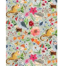 August Wren Minky, Forest Life, Fabric Half-Yards WSTELLA-PAW1453