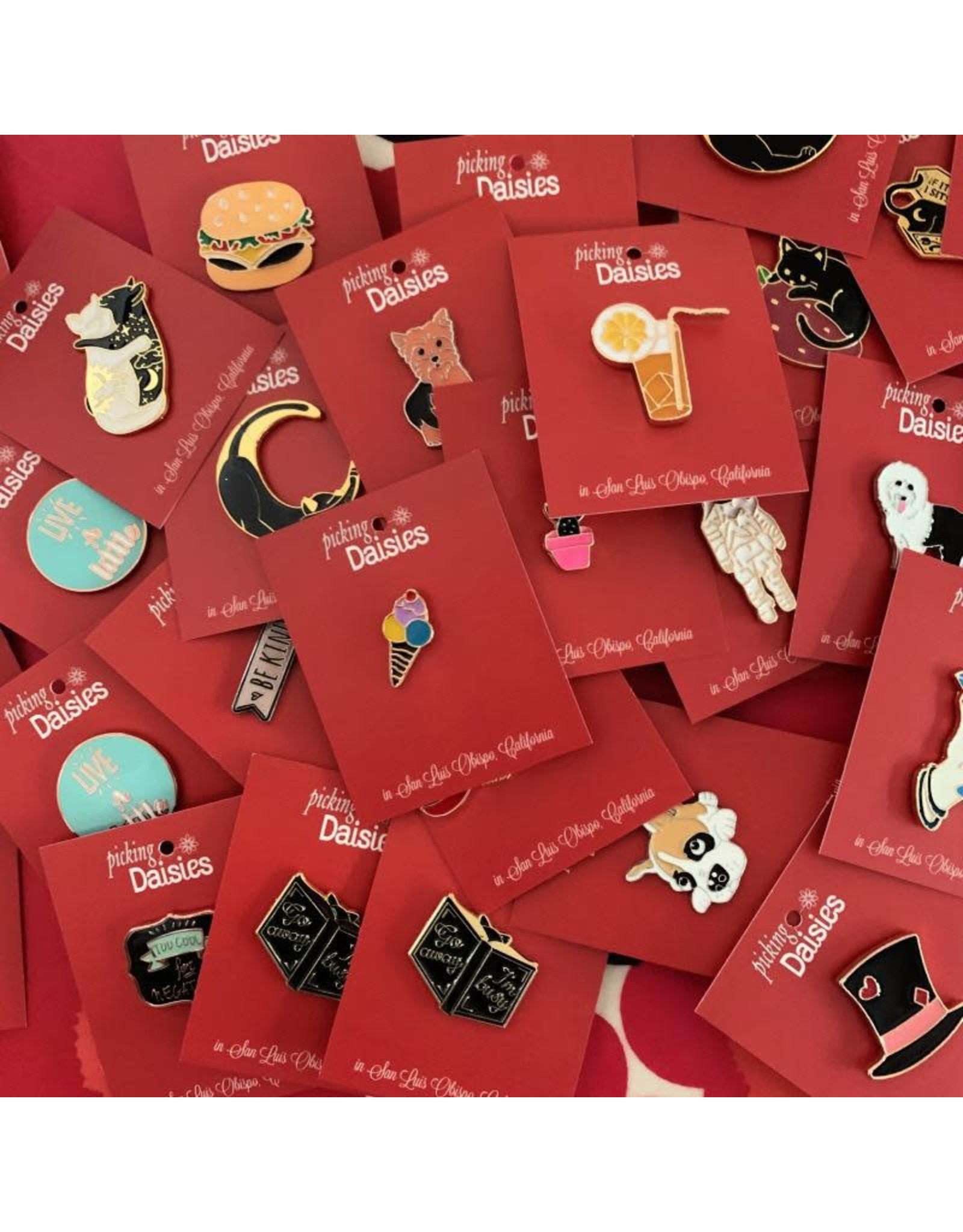 PD Food & Drink Themed Enamel Pins - 5 pcs. Assorted
