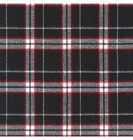 Robert Kaufman Yarn Dyed Cotton Flannel, Mammoth Flannel in Black, Fabric Half-Yards SRKF-17603-2