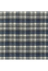 Robert Kaufman Yarn Dyed Cotton Flannel, Mammoth Flannel in Ash, Fabric Half-Yards SRKF-14893-290