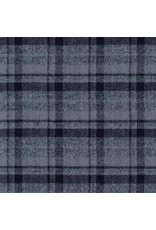 Robert Kaufman Yarn Dyed Cotton Flannel, Mammoth Flannel in Grey, Fabric Half-Yards SRKF-13927-12