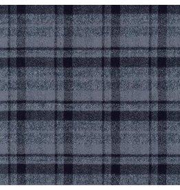Robert Kaufman Yarn Dyed Cotton Flannel, Mammoth Flannel in Grey, Fabric Half-Yards SRKF-13927-12
