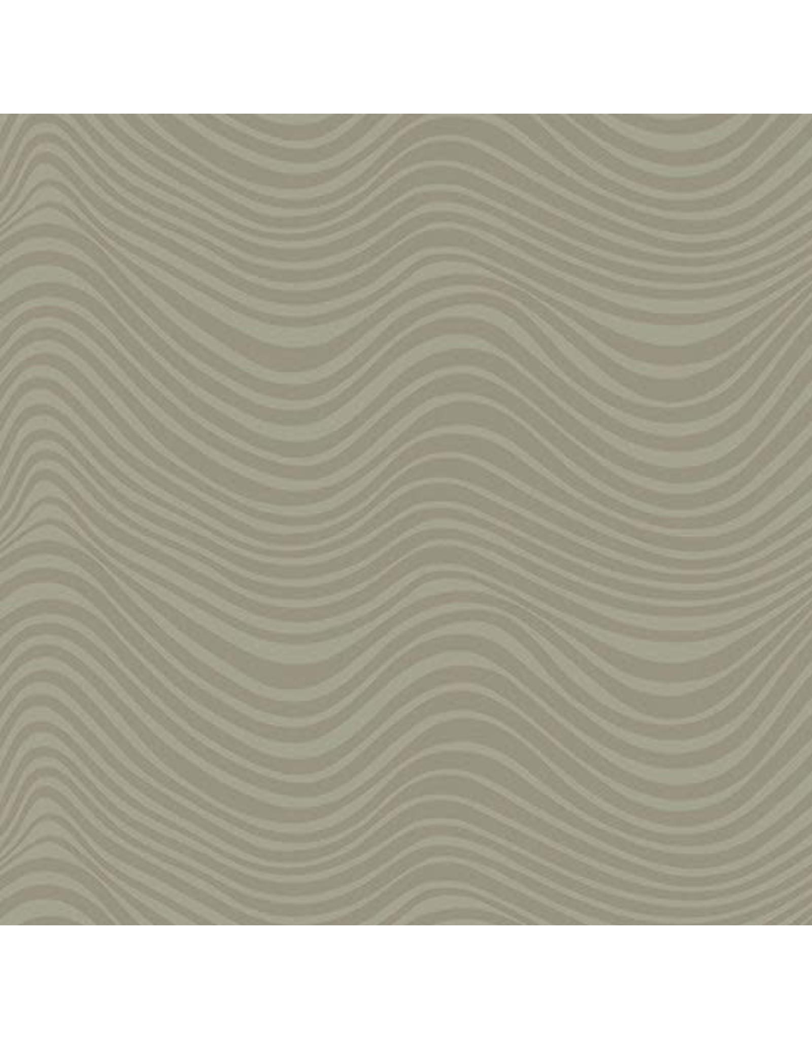 Libs Elliott Stealth, Waves in Khaki, Fabric Half-Yards A-9662-N