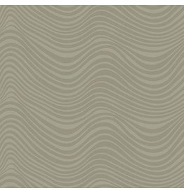 Libs Elliott Stealth, Waves in Khaki, Fabric Half-Yards A-9662-N