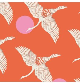 Sarah Watts Ruby Star Society, Florida, Egrets in Fire, Fabric Half-Yards RS2023 11