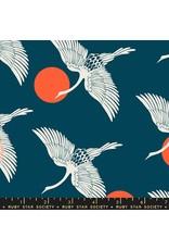Sarah Watts Ruby Star Society, Florida, Egrets in Peacock, Fabric Half-Yards RS2023 12