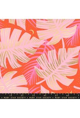 Sarah Watts Ruby Star Society, Florida, Shade Palms in Fire with Metallic, Fabric Half-Yards RS2024 14M
