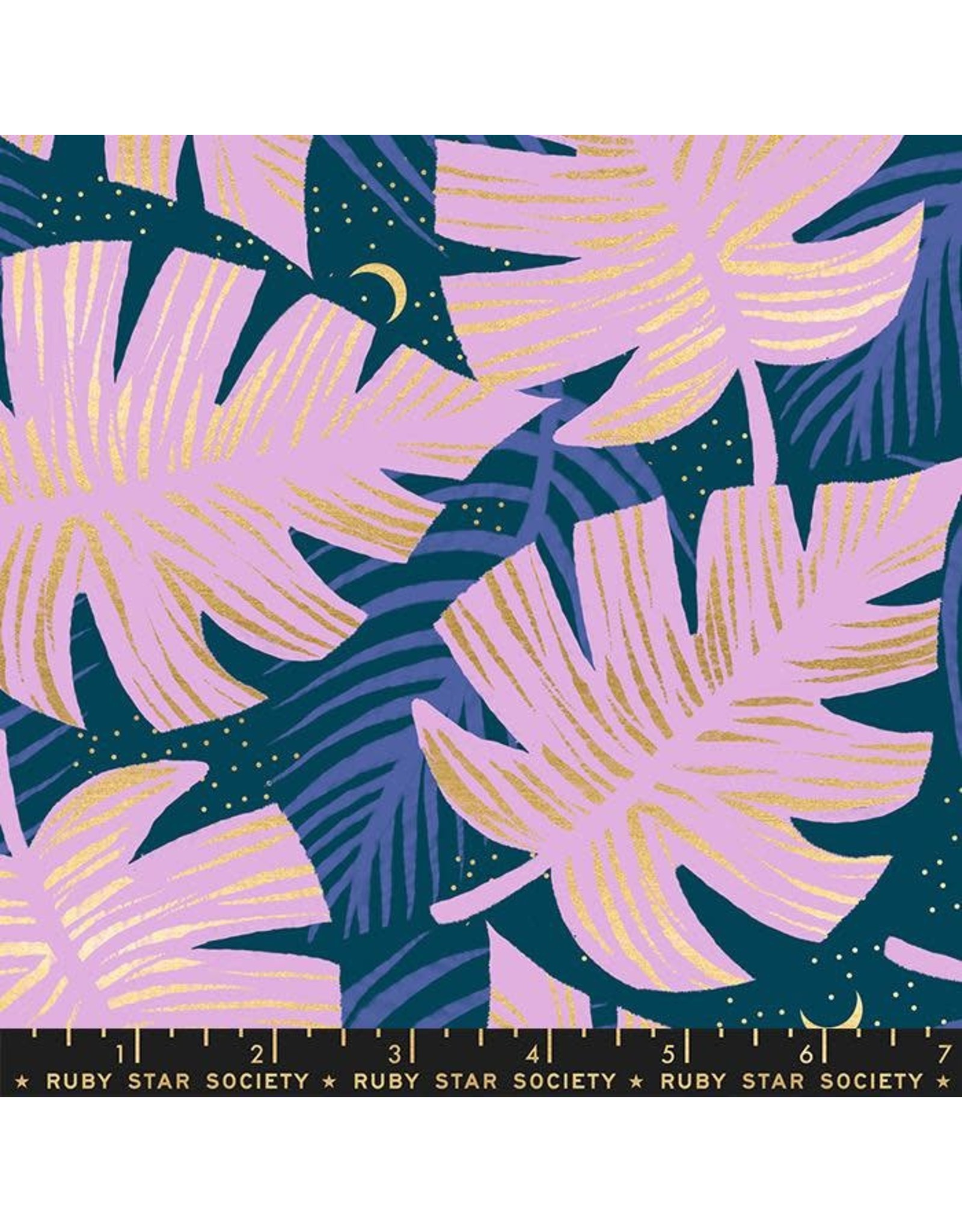 PD's Ruby Star Society Collection Ruby Star Society, Florida, Shade Palms in Peacock with Metallic, Dinner Napkin