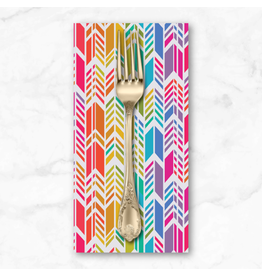 PD's Alison Glass Collection Art Theory, Rainbow Feather in Day, Dinner Napkin