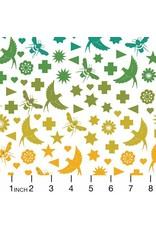 Alison Glass Art Theory, Seventy Six Bird & Bee in Day, Fabric Half-Yards A-9699-L