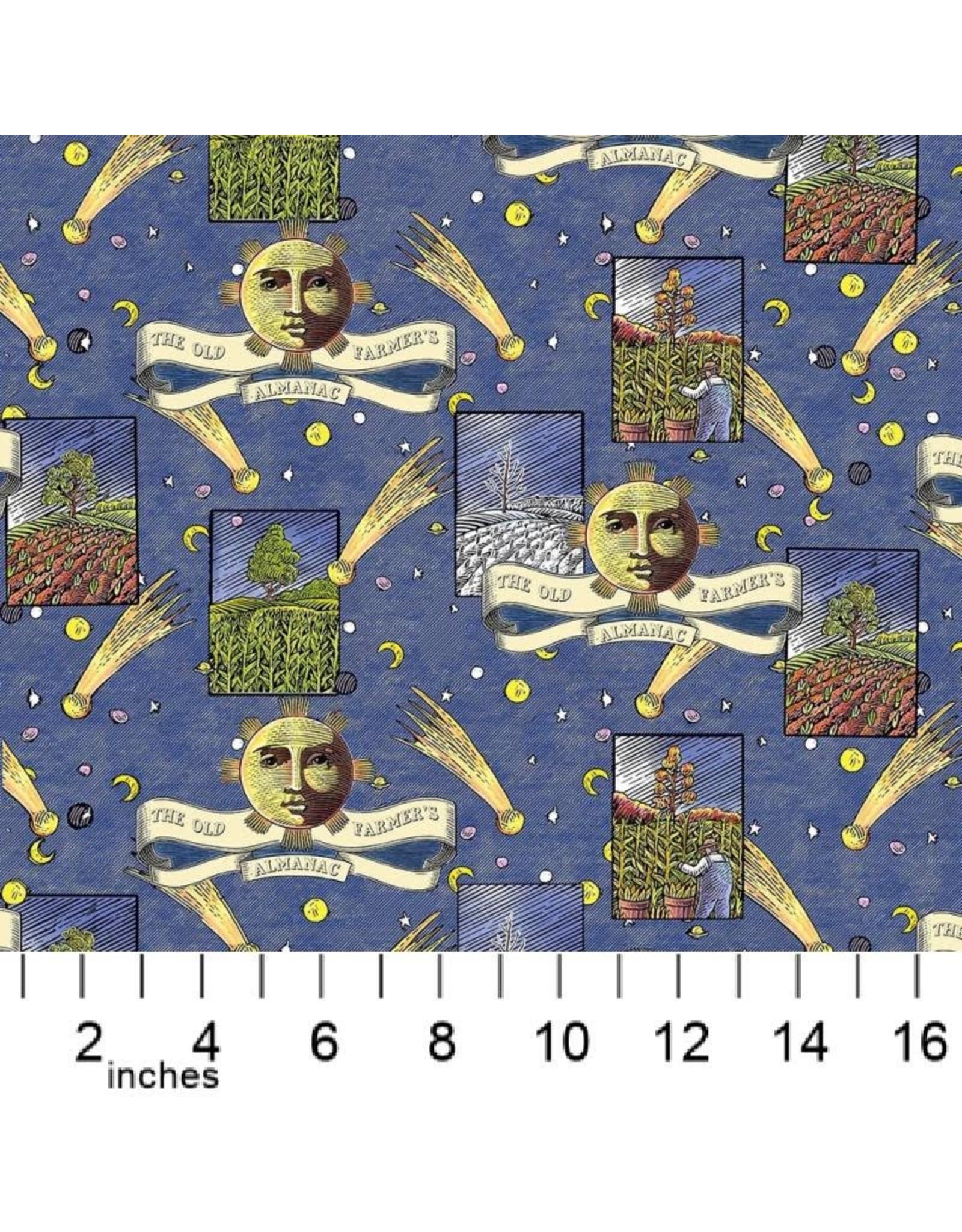 PD's Sykel Fabrics Collection Old Farmers Almanac, Celestial Patch, Dinner Napkin