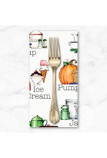 PD's J Wecker Frisch Collection Hungry Animals, Alphabet Soup in Off White, Dinner Napkin