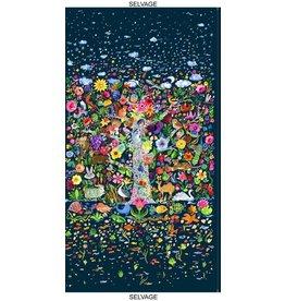 "August Wren Tree of Life Panel, 24"" x 44"" Fabric Panel STELLA-DJL1749"