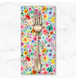 PD's August Wren Collection Tree of Life, Moth Floral in Multi, Dinner Napkin