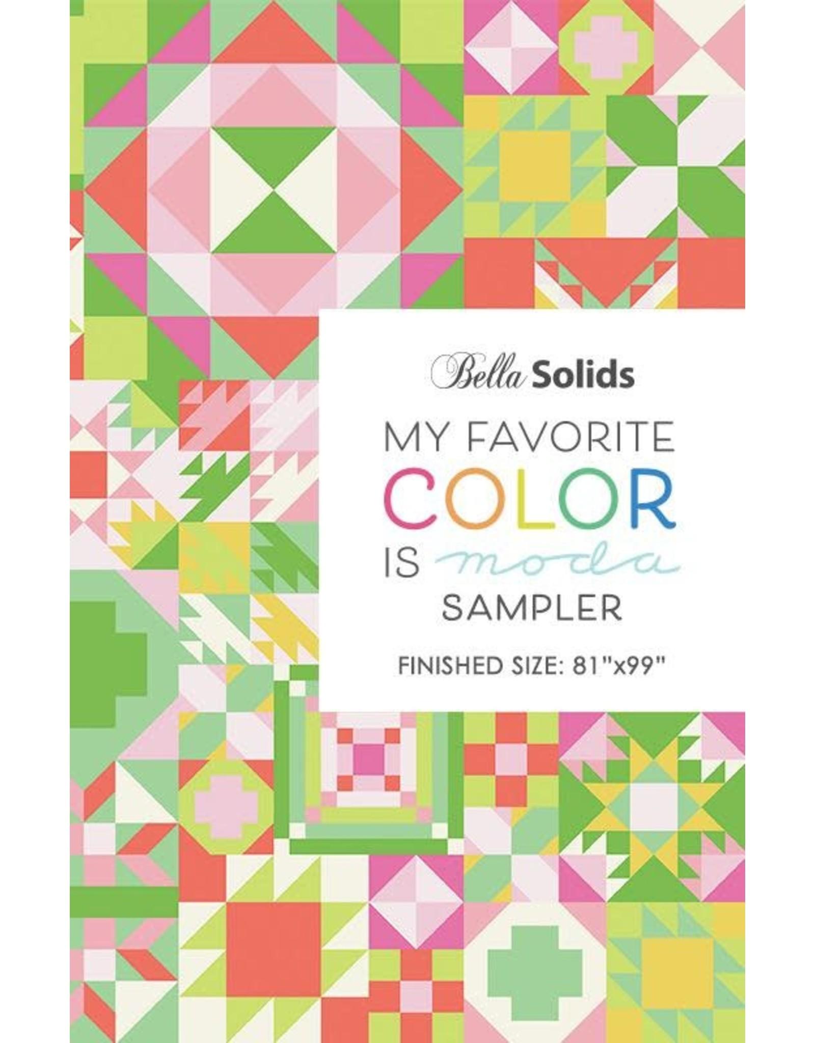 Moda My Favorite Color is Moda Quilt Sampler Pattern