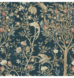 William Morris & Co. Orkney, Melsetter in Indigo, Fabric Half-Yards PWWM041