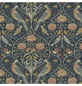 William Morris & Co. Orkney, Seasons by May in Indigo, Fabric Half-Yards PWWM044