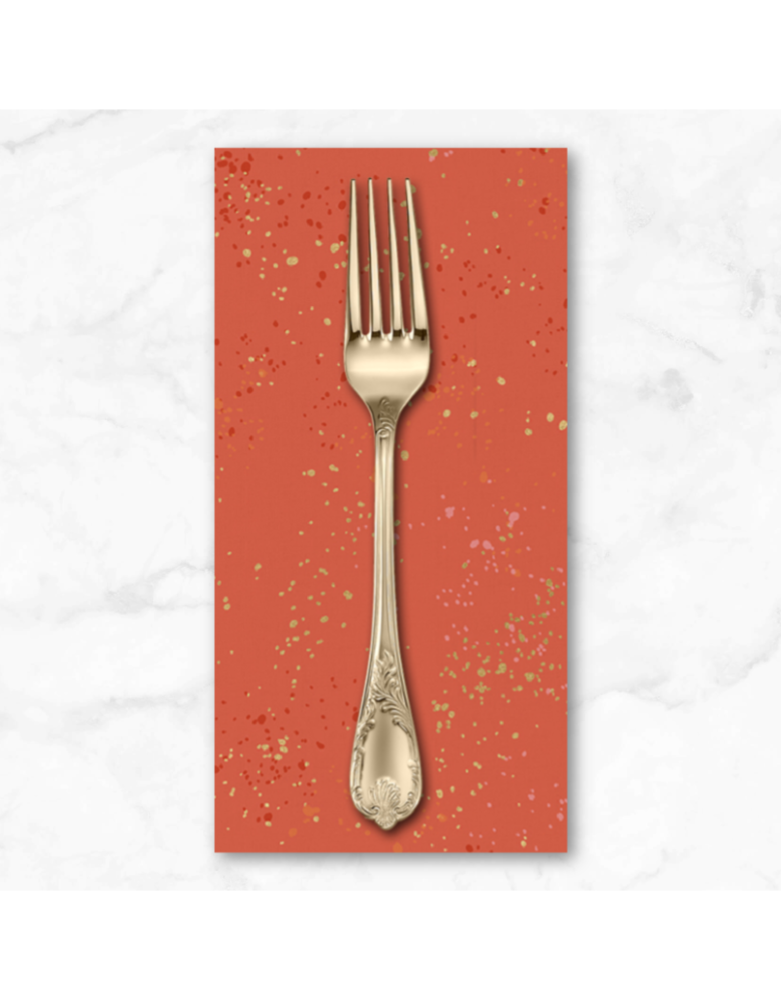 PD's Ruby Star Society Collection Ruby Star Society, Speckled Metallic in Festive, Dinner Napkin