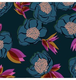 Ruby Star Society for Moda Ruby Star Society, Rise, Wideback in Dark Teal, Fabric Half-Yards RS111168 12