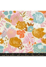 Melody Miller Ruby Star Society, Rise, Grow in Shell with Metallic, Fabric Half-Yards RS0012 11M