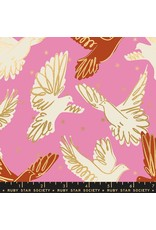 Melody Miller Ruby Star Society, Rise, Fly in Kiss with Metallic, Fabric Half-Yards RS0013 12M