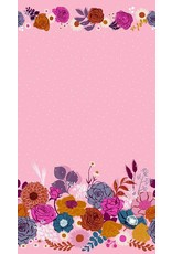 Melody Miller Ruby Star Society, Rise, Shine Double Border in Peony with Metallic, Fabric Half-Yards RS0014 12M