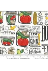 PD's Moda Collection Homegrown Salsa, Recipe in Salt, Dinner Napkin