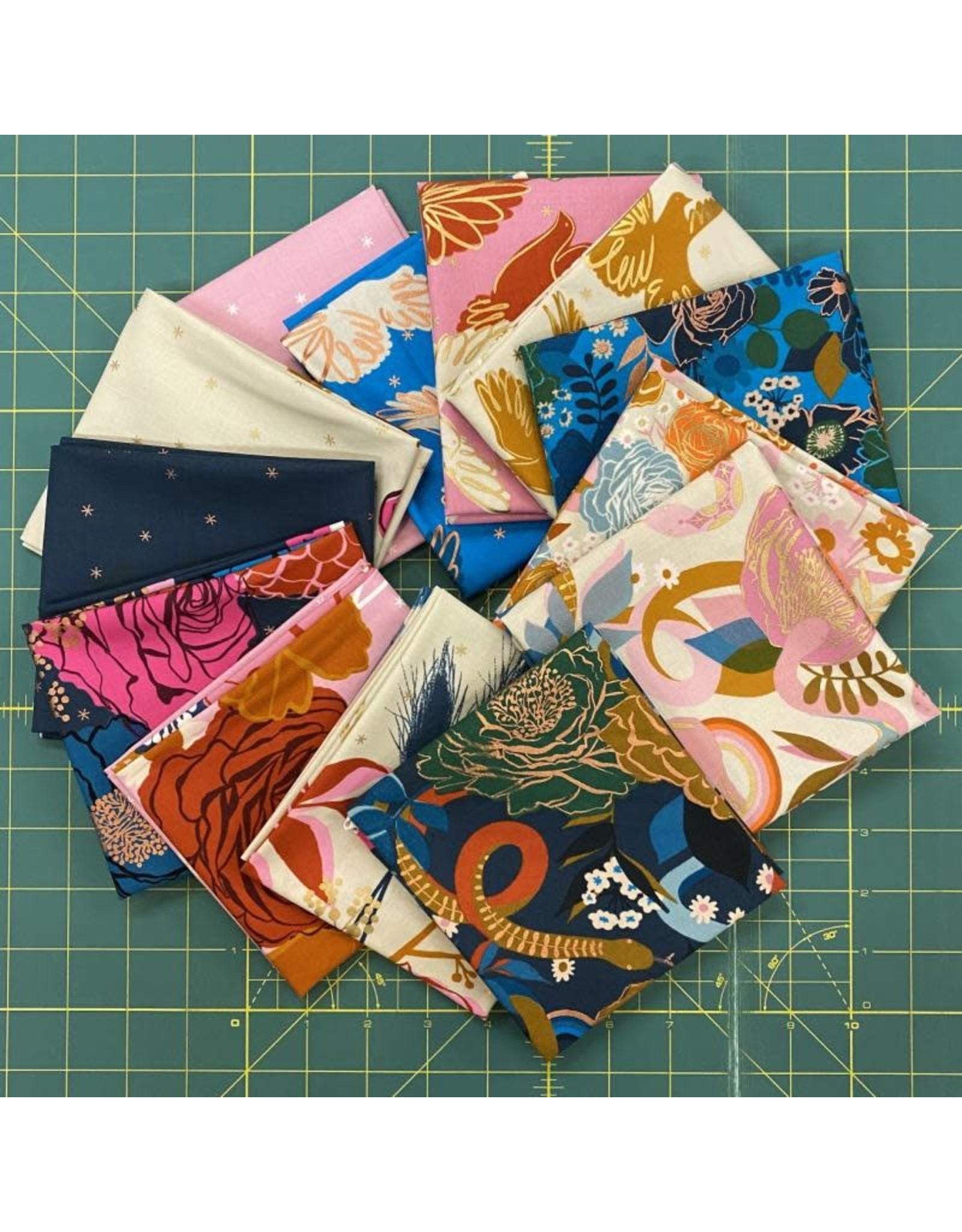 Melody Miller Rise by Melody Miller for Ruby Star Society, Fat Quarter Bundle containing 13 pcs.