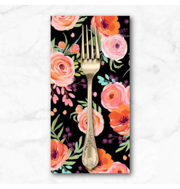 PD's Michael Miller Collection Breakfast in Bed, Winter Bouquet in Black, Dinner Napkin