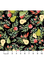 PD's Michael Miller Collection Breakfast in Bed, A Perfect Pear in Black, Dinner Napkin
