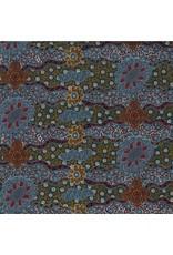 M&S Textiles Australia Aboriginal, Lillup Dreaming in Ash, Fabric Half-Yards LDRA