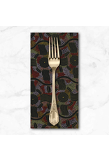 PD's Australian Aboriginal Collection Aboriginal, Rain Dreaming in Gold, Dinner Napkin